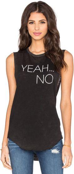 TYLER JACOBS Yeah No Cut-Off Tank #funny #graphic #tank #shirt #yeah #no