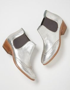 I've+spotted+this+@BodenClothing+Brogued+Chelsea+Boot+Silver