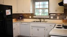 Peel & Stick Kitchen Tile Install