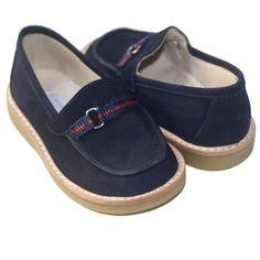 dc80b988c82186 Elephantito Boys Suede Loafer Shoe - Navy US 9 Elephantito.  65.00