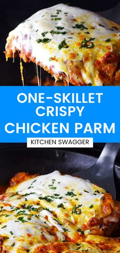 Chicken Parm is a classic dish, perfect for date night. Use these tips to make it easy to prepare, perfectly crispy every time. Make this in a cast iron skillet with marinara and fresh mozzarella. Skillet Chicken Parmesan, Chicken Parmesan Recipes, Yummy Chicken Recipes, Beef Recipes, Cooking Recipes, Skillet Recipes, Skillet Meals, Easy One Pot Meals, Dinner Recipes Easy Quick