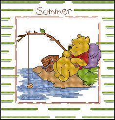 Seasons - Summer Pooh.  charts. Gallery.ru / Фото #1 - Verano - cnekane