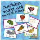 This set of 7 Word Wall Cards will be a great addition to your existing word wall for your food/nutrition theme.    Words included:     Apple  Berries  B...