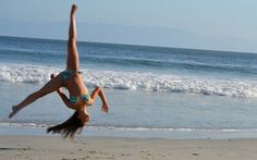Aerial on the beach <3...... How I wish I could do that!