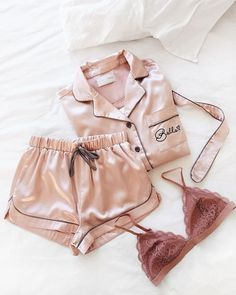 Pretty in pink! Update your loungewear attire with the silkiest and laciest ensemble.