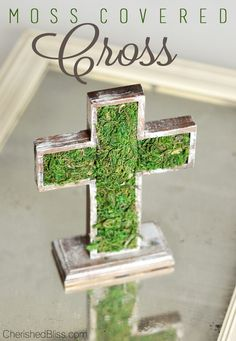 Easter is a time for celebrating faith and family. This year, include simple Easter cross decorations that pay tribute to the purpose behind the day, from wall decor to outdoor accents. Easter Religious, Cross Crafts, Crosses Decor, Diy Easter Decorations, Cross Decorations, Table Decorations, Easter Cross, Easter Celebration, Diy Centerpieces