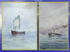 Outras marinhas, e uma a vapor.