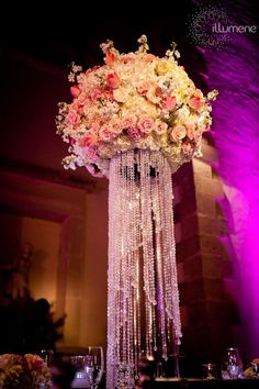 Vizcaya wedding lighting