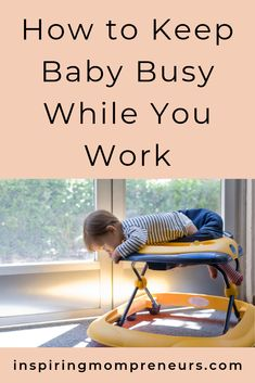 It can be tricky for moms who work from home to keep their babies occupied for a while so that they can get a few chores done. Babies are especially Continue Reading → Business Goals, Business Women, Inflatable Baby Pool, Infant Sensory Activities, Sensory Bottles, Baby Learning, You Working, Continue Reading, Baby Love
