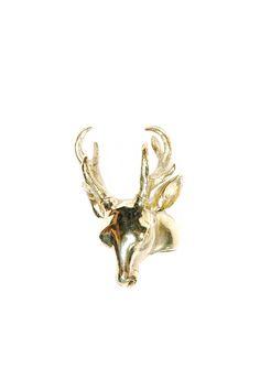 {brass Deer Ring} V-Treize