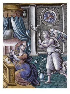 Plaque: Annonciation par PIERRE REYMOND - Musée national de la Renaissance (Ecouen)
