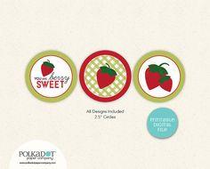"PRINTABLE - Berry Sweet - 2.5"" Round Circles"