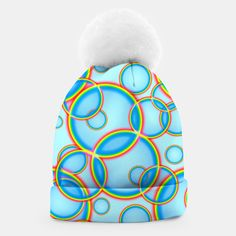 Rainbow Circles on Sky Gorro