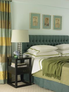 Elaine Griffin Interior Design -Horizontal silk stripe curtaining fabric by Nina Campbell. www.osborneandlittle.com Available at the DD Building suite 520 #ddbny #osbornelittle
