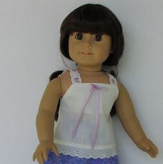 """My sewing tutorial for cute camisole for 18"""" dolls such as American Girl dolls.  Hope you like it!"""