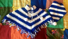 Toddler Poncho and Head Wrap by lishyloo on Etsy