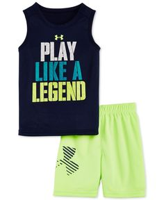 Under Armour Baby Boys' 2-Pc. Play Like A Legend Tank & Shorts Set