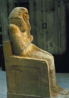 Statue of king Djoser - ancient Egypt - Egyptian Museum in Cairo