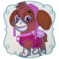 Skye Large Applique Machine Embroidery design pattern-INSTANT DOWNLOAD