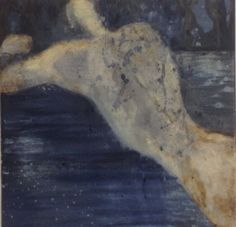 Cathrine Boman - Nattbad, Acryl på lerret, 30 x 30 cm