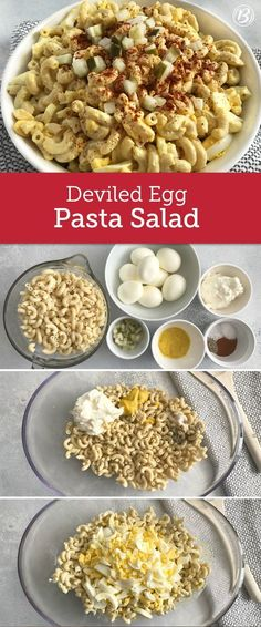 Deviled eggs take center stage in this pasta salad, perfect for holidays, picnics and potlucks. Make it a little easier by using hard-boiled eggs from the deli. This recipe will make you forget everything you thought you knew about pasta salad AND deviled eggs, get ready for a game-changer!!