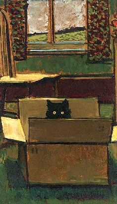 Cat in a Cardboard Box, by Ruskin Spear.