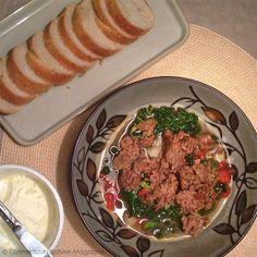 "Kale, Potato and Sausage ""Zuppa Toscana"" Soup Recipe - Mock Olive Garden Soup"