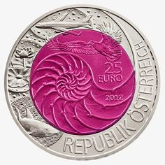 "The tenth coin in the series ""Bionics"" coins and more: 170) The ""25 Euro Silver-Niobium Coin Series"": (x)..."