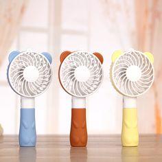 Home Appliances Independent Portable Handheld Fan Summer Home Small Fan Cute Cartoon Bear Usb Charging Fan Study Table Lamp Fan