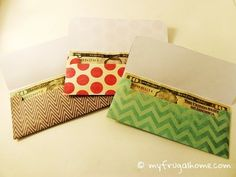 """Gift Money Envelope Templates - two designs to choose from. Could be use for the """"Envelope System"""" too"""