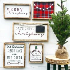 Farmhouse Christmas Decor Rustic Holiday by ThreeArrowsCo