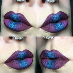 Purple and Blue Lips..