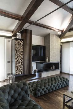 Architecture and design studio Giammetta Architects designed this stylish rustic home located in Perugia, Italy and completed in Read More… Room Interior Design, Living Room Interior, Interior Decorating, Inside A House, Casa Clean, Eclectic Living Room, Unusual Homes, Fireplace Design, Tv Fireplace