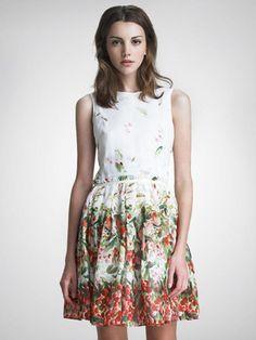 White Floral Skater Dress | Choies