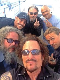Tig, Bobby, Jax, Juice, Chibs and Happy - Sons of Anarchy, SAMCRO, SOA, bikers, brothers, family, great tv, photo