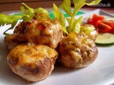 Plnene žampiony No Salt Recipes, Russian Recipes, Creative Food, Vegetable Recipes, Baked Potato, Main Dishes, Sweets, Vegetables, Ethnic Recipes
