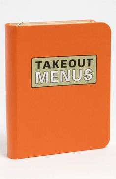 """Knock Knock Takeout Menu Organizer {Now you have a place to collect all your takeout menus for """"those days""""}"""