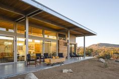 Architect Jeremy Levine's sustainable home, theCowboy Modern Desert Eco-Retreat, is stylish, contemporary and entirely off grid in the California desert Yucca Valley, Exterior Siding, Travel And Leisure, Renting A House, Acre, Deserts, National Parks, Architecture, Modern