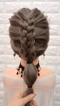 Bun Hairstyles For Long Hair, Braids For Long Hair, Girl Hairstyles, Wedding Hairstyles, Party Hairstyles, Simple Hairstyle Video, Waitress Hairstyles, Easy Hairstyles For Short Hair, Summer Hairstyles For Medium Hair