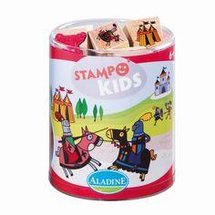 Kinderstempel Stampo Kids Ritter mit Stempelkissen von Aladine