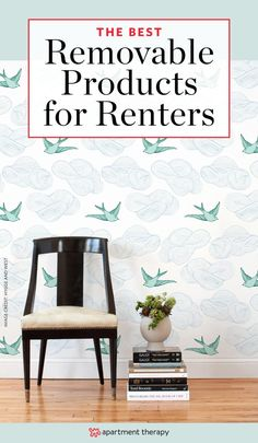 Renters like nice things too! And, thankfully, each year more and more products emerge that are removable and won't jeopardize your security deposit when you move out. So, you can fix up your space temporarily and not sacrifice style. Here are ten rental-worthy products—all adhesive—to consider.