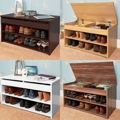 A little piece of organisation heaven for your hallway. A shoe storage cabinet is available in a choice of four finishes. 𝗡𝗼𝘄 𝗼𝗻𝗹𝘆 £𝟰𝟭! Shoe Storage Furniture, Hallway Furniture, Shoe Storage Cabinet, Storage Cabinets, Cheap Furniture, Shoe Rack Bench, Bench With Shoe Storage, Hallway Designs, Hallway Decorating