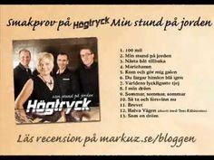 Smakprov på Högtrycks ny cd  Min stund på jorden (markuz.se/bloggen)