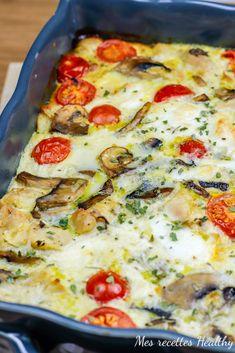 Quiche au poulet et mozzarella facile | Mes recettes Healthy