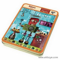 ... best friend's 4 to 5 year old son. Alex LOVED these - Robots Magnetic Figures in a handy travel tin. He was apparently impressed with me for knowing that he was super into Robots. Lucky guess.
