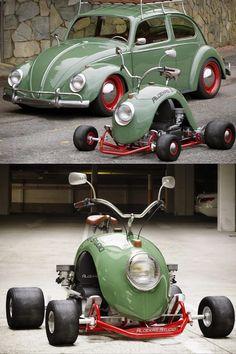 Mini Moto, Mini Bike, Vw Cars, Pedal Cars, Volkwagen Golf, Combi Vw T2, Dominator Scrambler, Bd Design, Diy Go Kart