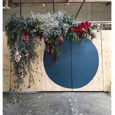 Wedding flower feature by Poppy Lane