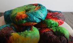 Regenbogen-Bagel