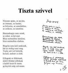 József Attila: Tiszta szívvel Poem Quotes, True Quotes, Qoutes, Poems, Hungary, Breakup, Quotations, Books To Read, Literature