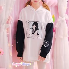 Kawaii Anime Girl Hoodie sold by ★Magic Moon★ on Storenvy Teen Fashion Outfits, Anime Outfits, Cool Outfits, Kawaii Fashion, Cute Fashion, Style Fashion, Girls Jumpers, Kawaii Clothes, Preppy Style
